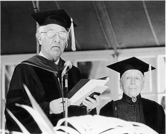 Marta Feuchtwanger receiving honorary degree from USC, 1980