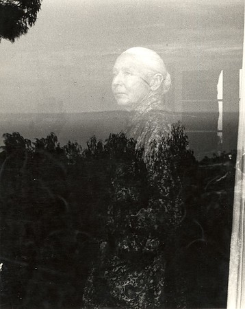 Portrait of Marta Feuchtwanger looking through window