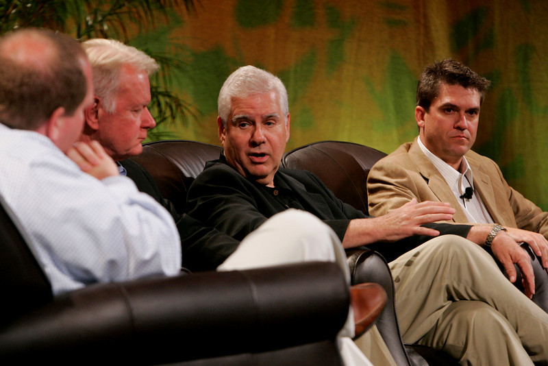 """Trends in Venture Investment: 'Rapid Response' for Strong Returns"": [L-R] Moderator Erik Straser, Lead, CleanTech Investment Team, Mohr Davidow Ventures; Bruce Harned, President, MarketFit Associates; Rick LeFaivre, Venture Partner, OVP Venture Partners; and Michael Pfeffer, Managing Partner, Kolohala Ventures"