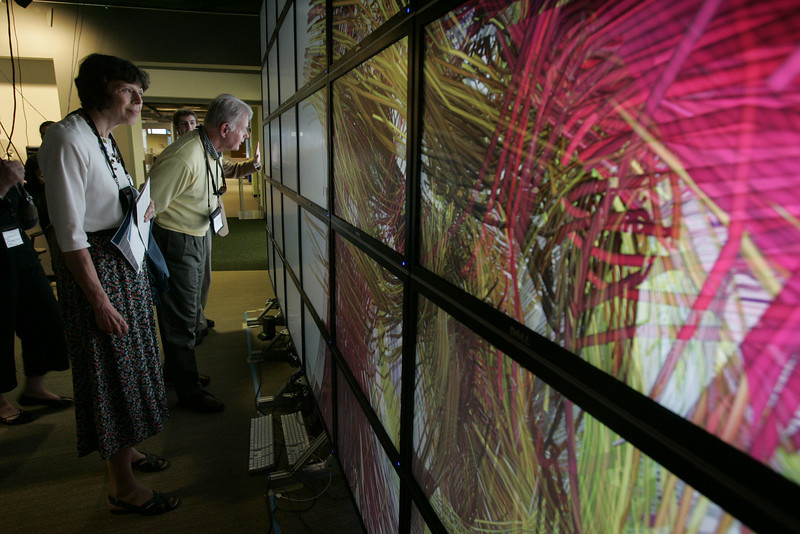 """The """"FiRe Lab"""" at Calit2: [L-R] Suzie Harned, Janet Smarr, and Bruce Harned"""