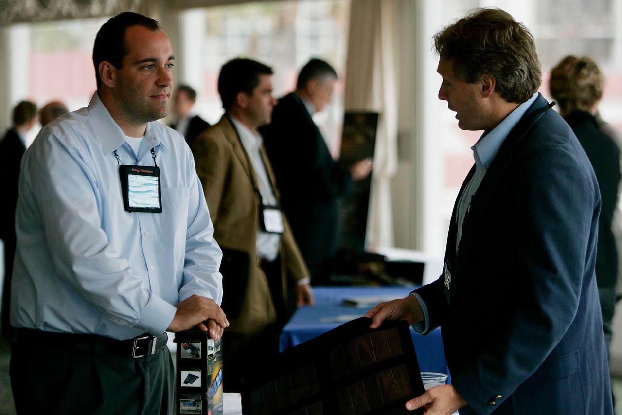 """Meet the FiReStarters and Spotlight Company"": SNSer/former FiRe/Thunderbird intern Gustav Tottenberg [L]; and Scott Wiedeman, Chief Scientist, Global Solar Energy"