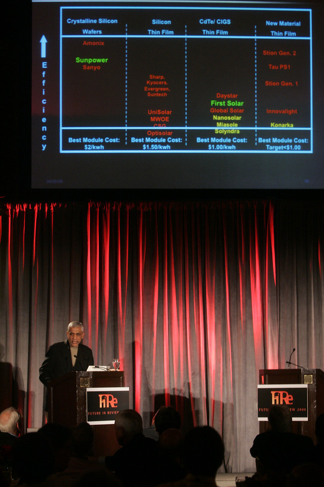 "PowerPoint exception: Vinod Khosla, founder of Khosla Ventures, presents ""Identifying Tomorrow's Energy Sources"""