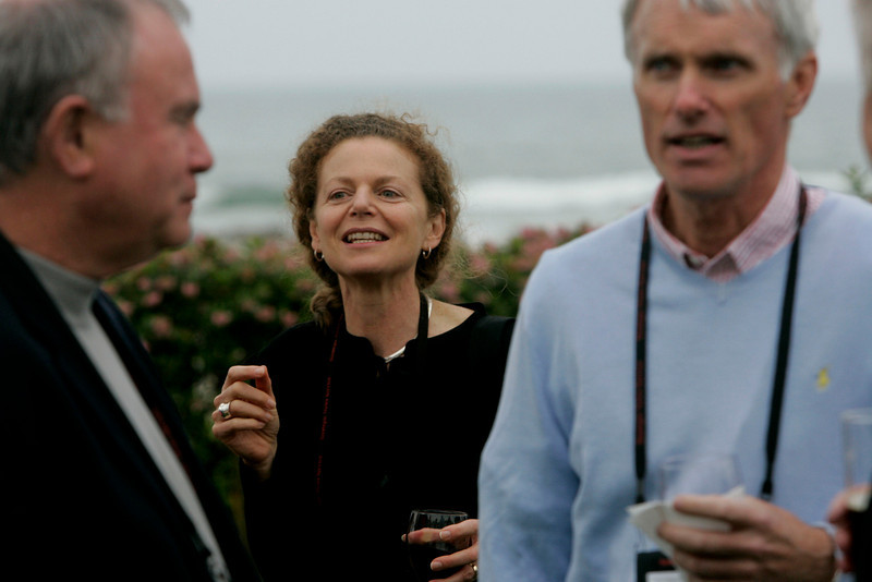 Cynthia Figge (center), EKOS International; and Bruce Conway, Alex Conway Investments