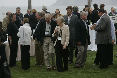 (L-R, foreground) Lynne Mercer, Carol Jones, Bill Jones, Bruce Harned, Suzie Harned, and David Morris