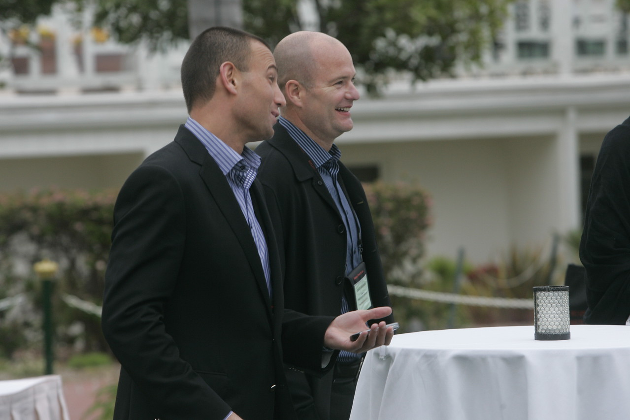 Roy Schoenberg (L), CEO of American Well Systems; and Dave Grannan, president and CEO, vlingo Corp.