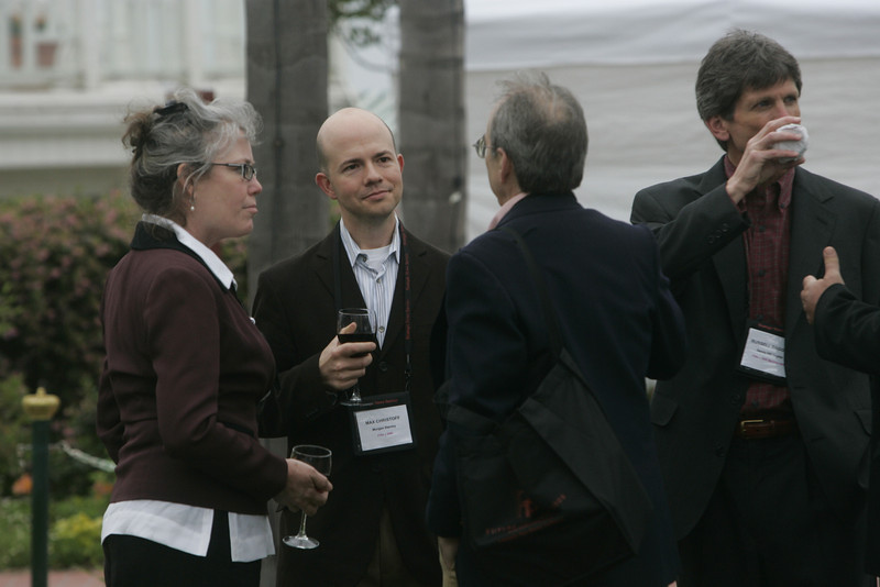 (L-R) Sally Anderson, Max Christoff, Bill Janeway, and Russ Daggatt