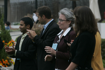 (L-R)FiRe 2008 interns Debarshi Das and Matt Keller; staffers Sally Anderson and Sam Leigh