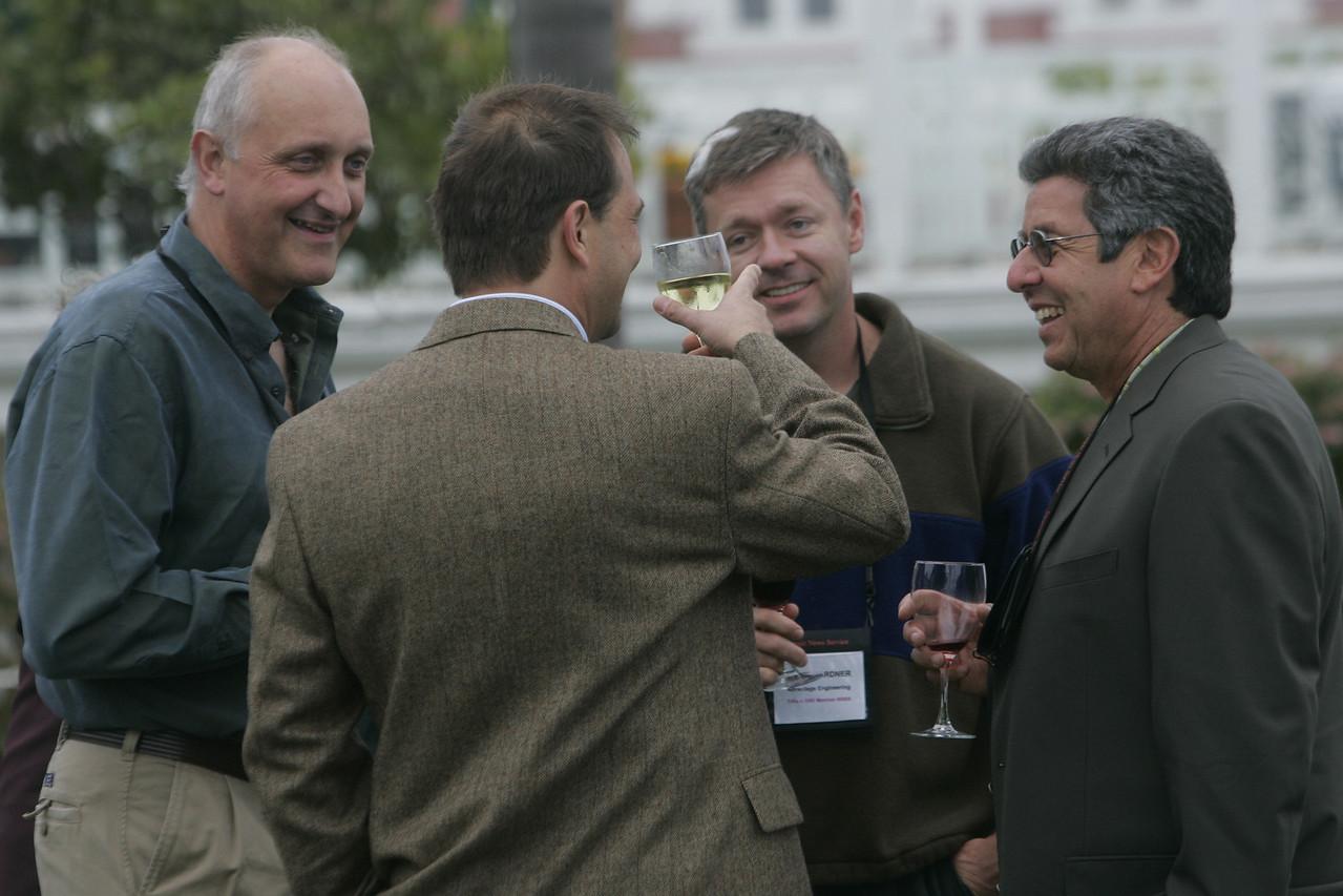 (L-R) Kai de Altin Popiolek (front), Geoff Carss, Scott Gardner, and Bob Warshawer