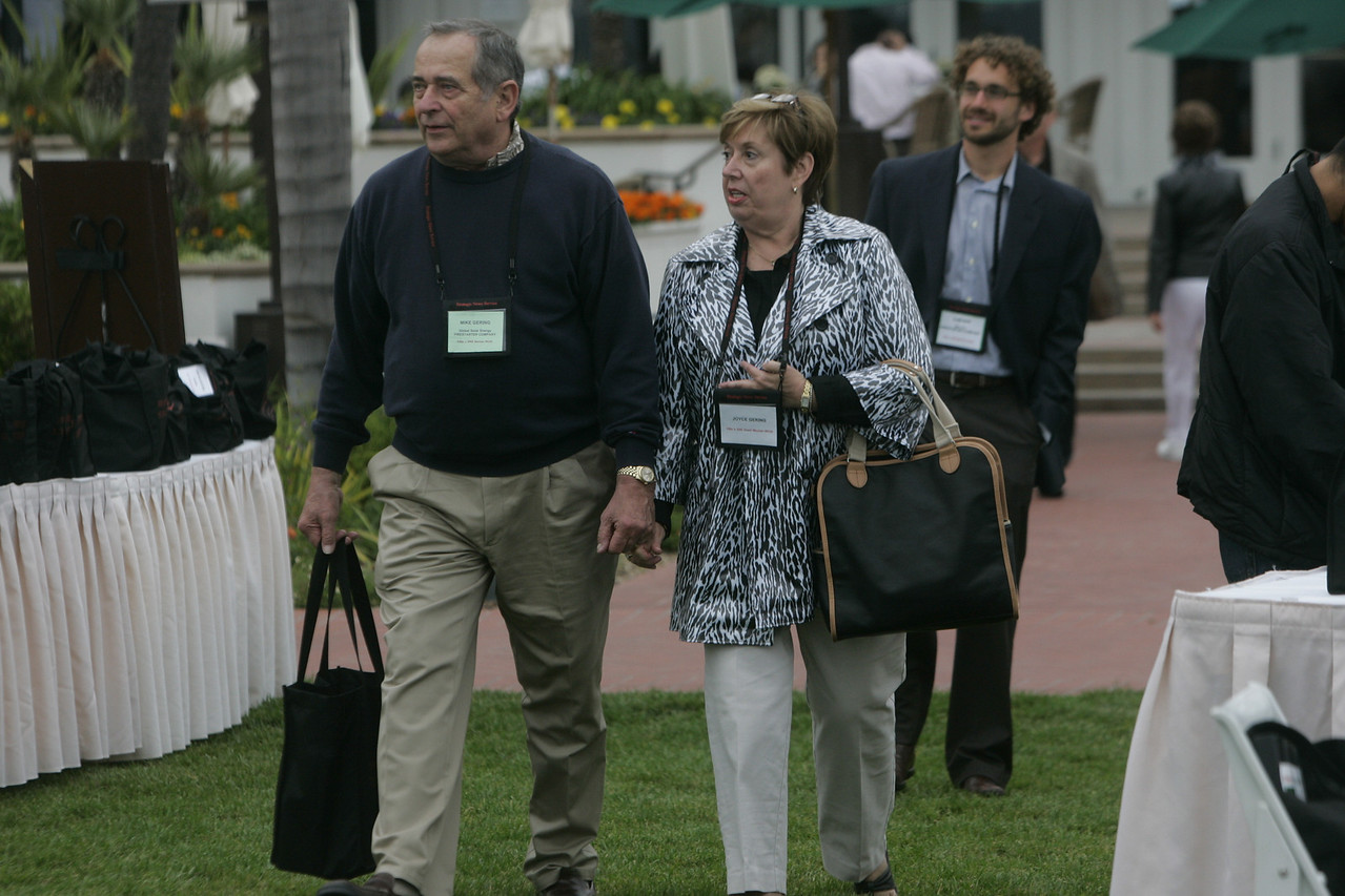 FiReStarters: (L-R) Mr. and Mrs. Mike Gering, Global Solar Energy; and Ilan Gur, Seeo Inc.