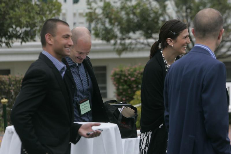 (L-R) FiReStarter company CEOs and representatives Roy Schoenberg, Dave Grannan, Erin Keleher, and Ido Schoenberg