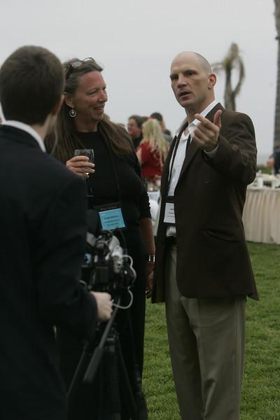 (L-R) SNS Comptroller Lynne Mercer and guest videographer Tim Reha