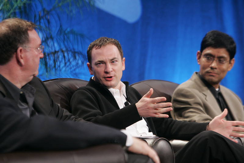"""""""Collaborative (Green) Innovation"""": (L-R) Mark Atkins, Chair, President, and CEO, Invention Machine Corp.; Mark Turrell, CEO, Imaginatik; and Prith Banerjee, Senior VP, Research, and Director, HP Labs, Hewlett-Packard"""