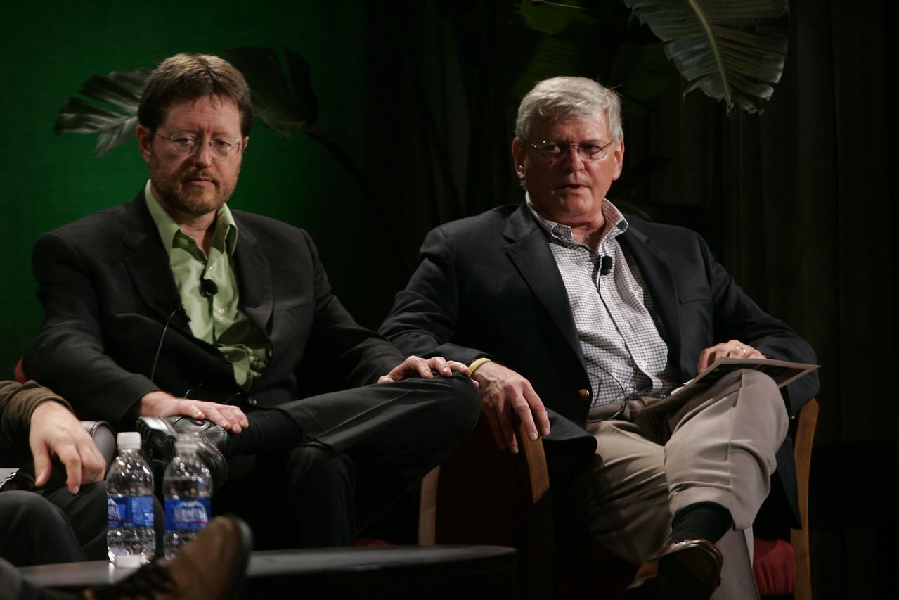 """""""Hotspots II"""": Mark Foster (L), Partner, Zimmer Gunsul Frasca; and David Morris, chair and president, EcoVerdance"""