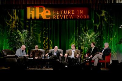 """Hotspots II"" (L-R): Steve Evans, BBC; Ricardo Salinas-Pliego, Grupo Salinas; Don Jones, QUALCOMM; Simon Hackett, Internode; Mark Foster, Zimmer Gunsul Frasca; and David Morris, EcoVerdance"