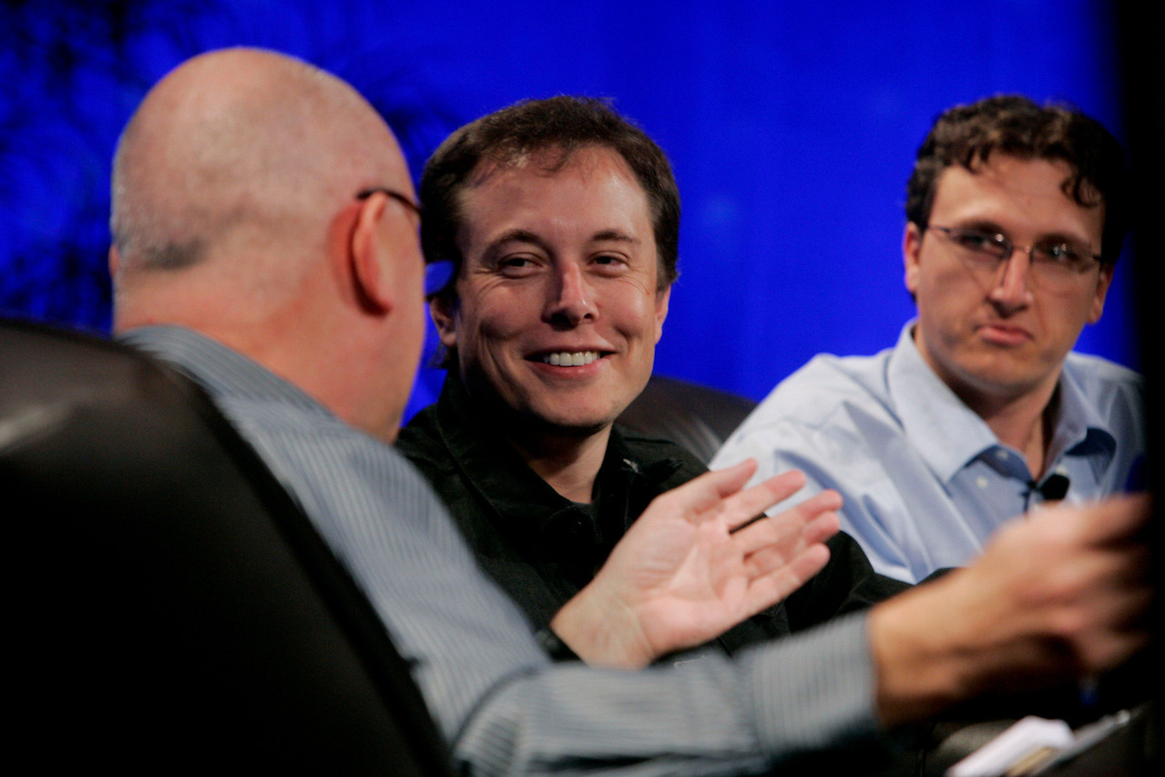 """""""Earth on FiRe: Rapid Response to Climate Crisis"""": Moderator Steve Evans gets a rise out of Elon Musk (SpaceX) in a session including Lyndon Rive (SolarCity)"""