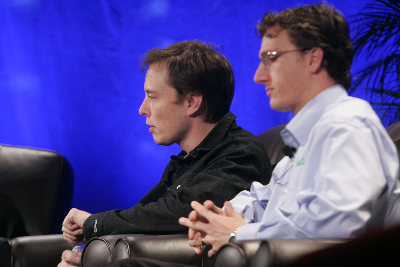"""Earth on FiRe: Rapid Response to Climate Crisis"": Elon Musk (L), CEO and CTO, SpaceX; and Lyndon Rive, CEO, SolarCity"