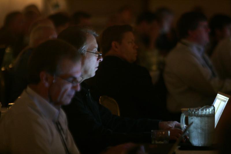 (L-R) Hugh Bradlow, Steve Broback, John Thompson, and Ty Carlson