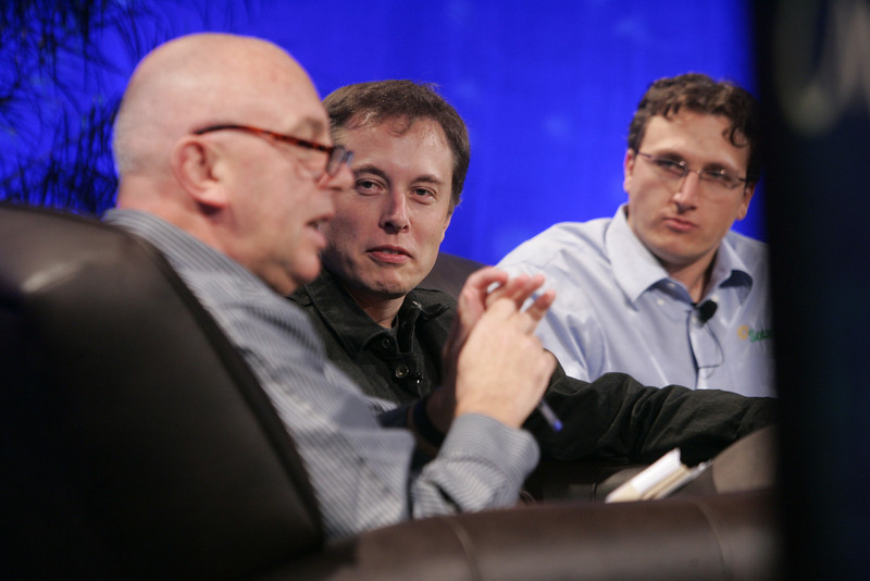 """Earth on FiRe: Rapid Response to Climate Crisis"": (L-R) Moderator Steve Evans, BBC World Service; Elon Musk, CEO and CTO, SpaceX; and Lyndon Rive, CEO, SolarCity"