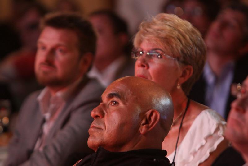 (L-R) Johan Varland, Kamran Elahian, and Mary Clark