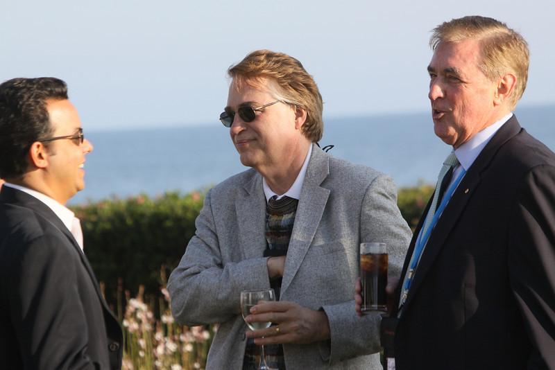 "(L-R) John Avlon, Columnist, TheDailyBeast.com; Larry Smarr, Director, Calit2 (the ""FiRe Lab""), UCSD; and Phil Scanlan, Australian Consul-General"