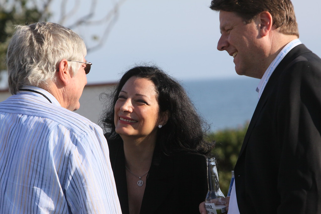 Dan Lynch (L), Chair, Lynch Enterprises; Petra Vorsteher, EVP and Co-founder, Smaato; and Ragnar Kruse, Co-Founder and CEO, Smaato