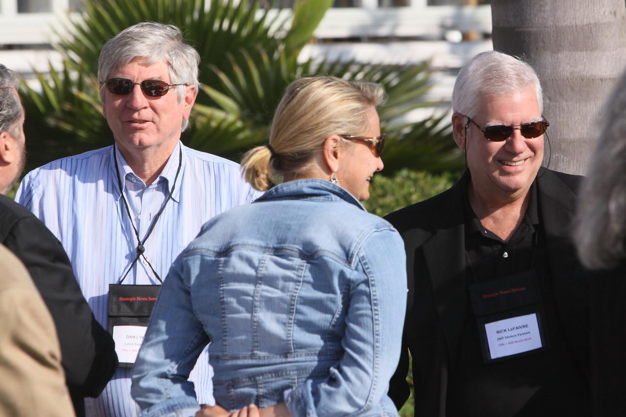 (L-R) Mark Anderson, CEO of SNS, and FiRe Chair; Dan Lynch, Chair, Lynch Enterprises; Shannon Larsen, VP for Corporate Relations, Santa Fe Institute; and Rick LeFaivre, Venture Partner, OVP Venture Partners