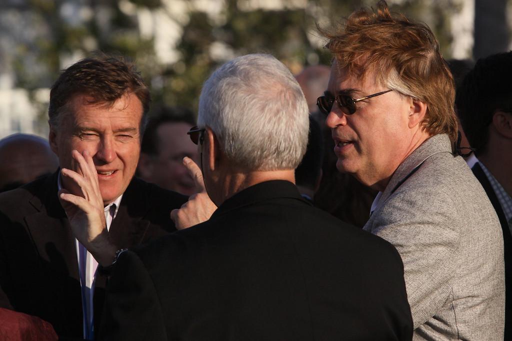 """(L-R) Chris Hancock, CEO, AARNet Party Ltd; Rick LeFaivre, Venture Partner, OVP Venture Partners; and Larry Smarr, Director, Calit2 (the """"FiRe Lab""""), UCSD"""