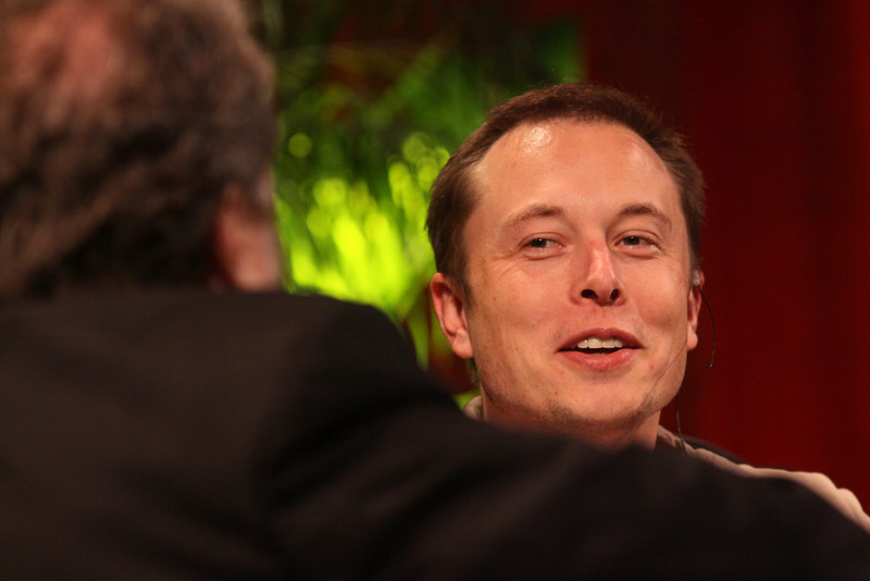 """Blast Off! From Launching Private Rockets to the Next Electric Cars"": Host Mark Anderson (L), FiRe Chair and SNS CEO; with Elon Musk, CEO, SpaceX and Tesla Motors"