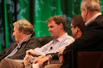 """Trends in Global Venture Investment"": (L-R) Roger Buckeridge, Director and Co-Founder, Allen & Buckeridge (Australia); Niall Davis, Partner, aeris CAPITAL AG (Zurich); Michael Pfeffer, Managing Partner, Kolohala Ventures (Hawaii); and Gary Rieschel, Qiming Venture Partners (Shanghai)"
