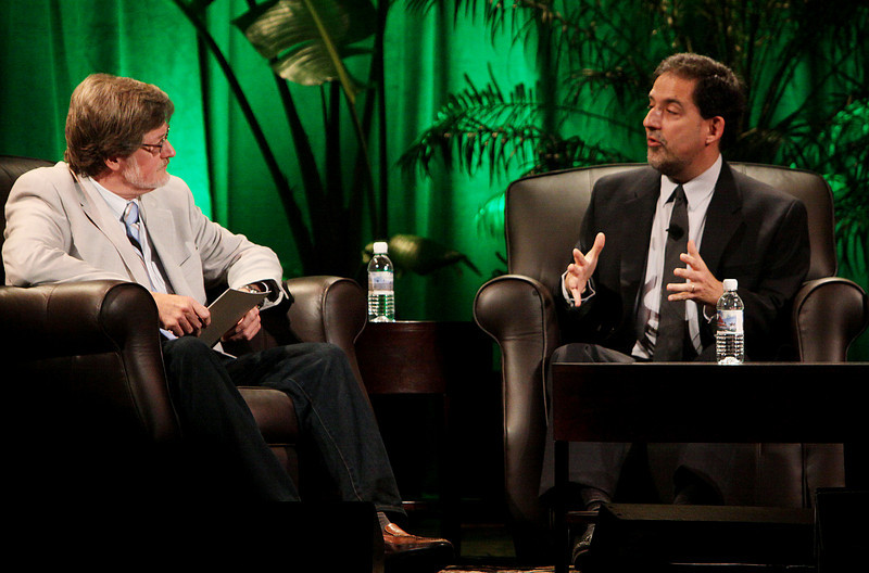 """""""Finding Solutions to Current Economic Challenges"""": Host Scott Foster (L), Sr. Analyst, HSBC Securities (Japan) and Principal, Misaki Research; and Ira Kalish, Director of Global Economics, Deloitte Research"""