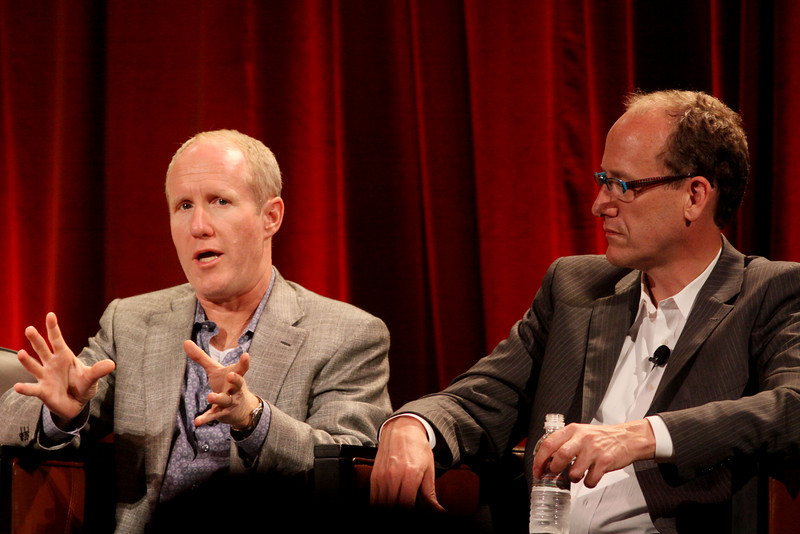 """""""FiReStarters II"""" - Member-nominated new ventures we believe will improve the world in the next 3-5 years: Ian Hersey (L), Global CTO and EVP, Products, Attensity Group; and Alan Smith, Founder and CEO, Vesta Health Systems"""
