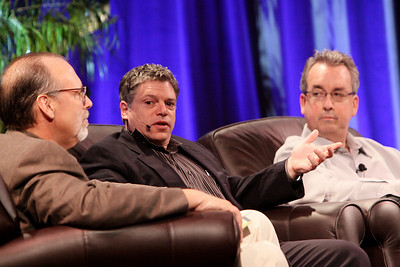 """Infrastructure 2.0: The Coming Network Revolution"": (L-R) Host Greg Ness, Senior Director, Infoblox; Richard Kagan, VP Marketing, Infoblox; and Mark Thiele, Director, Business Operations for R&D, VMware"