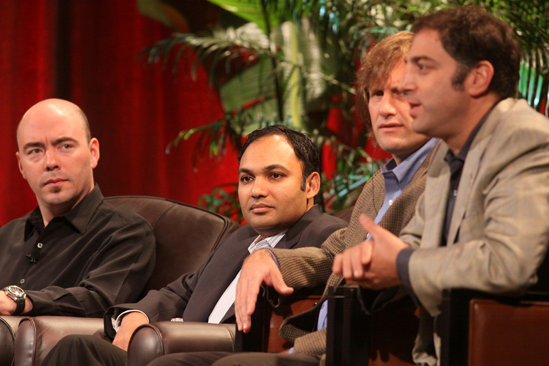 FiReStarters I: (L-R) Jim Sink, VP, Business Development, Avatar Reality; Ravi Chiruvolu, Board Director, Rearden Commerce; Jeff Krisa, VP, Marketing and Sales, Tigo Energy; and Aaron Solomon, VP, Business Development, Complete Genomics