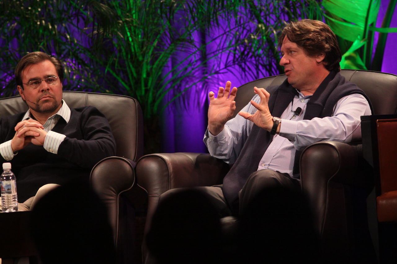 """Latin America: """"Mexico's Future: Business vs. Narcotics"""" and """"Venezuela's Future: Living with Chavez"""": David Brillembourg (L), President, The Brilla Group; and Nelson Ortiz, past President, Caracas Stock Exchange"""