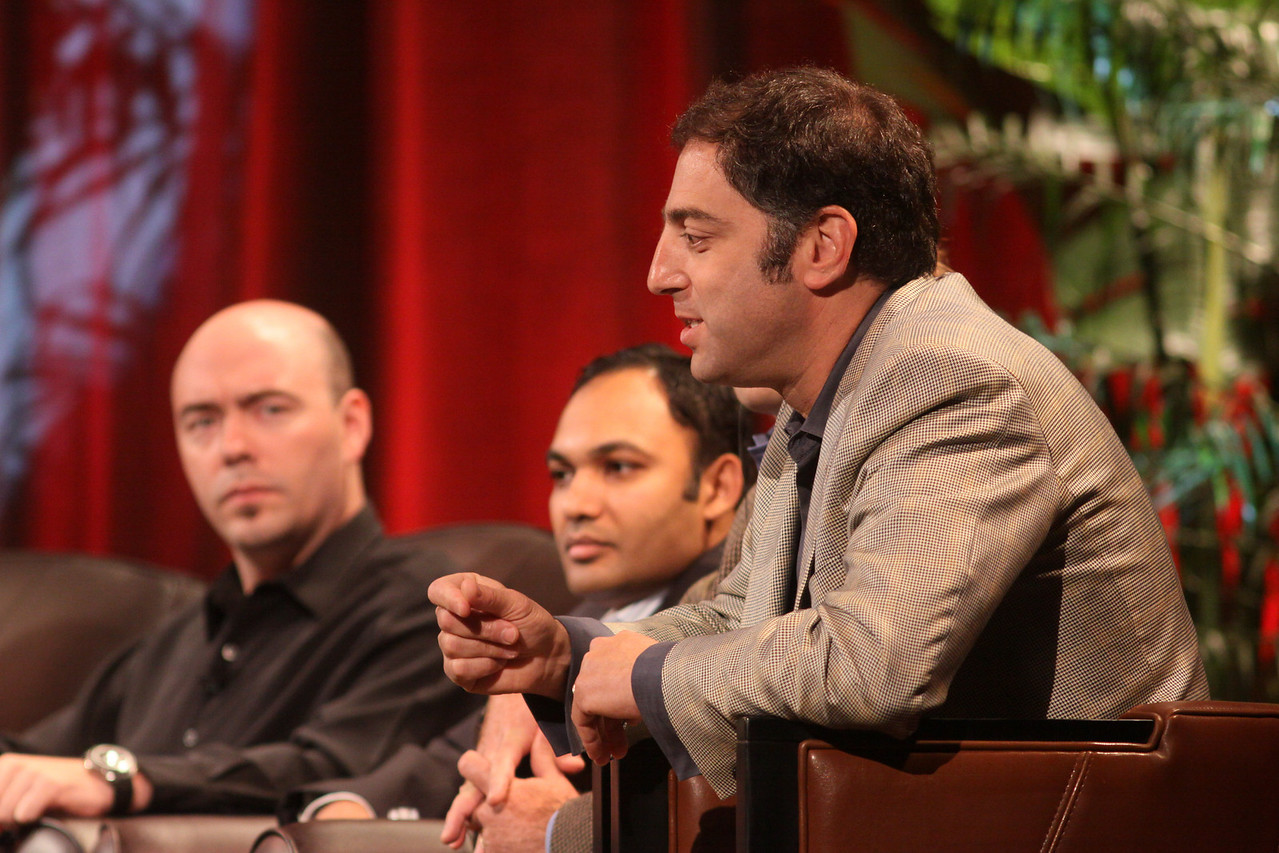 FiReStarters I: (L-R) Jim Sink, VP, Business Development, Avatar Reality; Ravi Chiruvolu, Board Director, Rearden Commerce; and Aaron Solomon, VP, Business Development, Complete Genomics