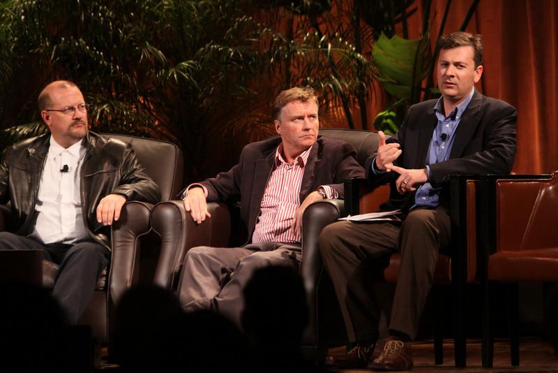 """Australia's Role As Asia Rises"": (L-R) Simon Hackett, CEO, Internode; Chris Hancock, CEO, AARNet; and Adrian Turner, CEO, Mocana"