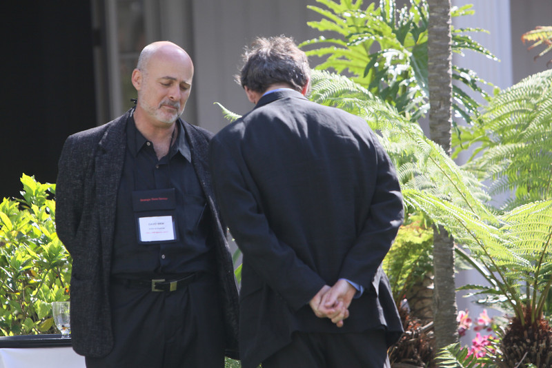 Author and physicist David Brin (L) with Russ Daggatt, Founding General Partner, Denny Hill Capital