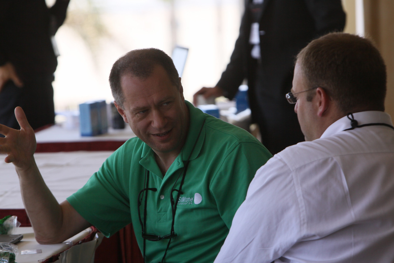 Misha Nossik (L), EVP, Corporate Development, SIMtone (a FiReStarter company); and Alexander Gounares, Corporate VP for Corporate Strategy, Microsoft