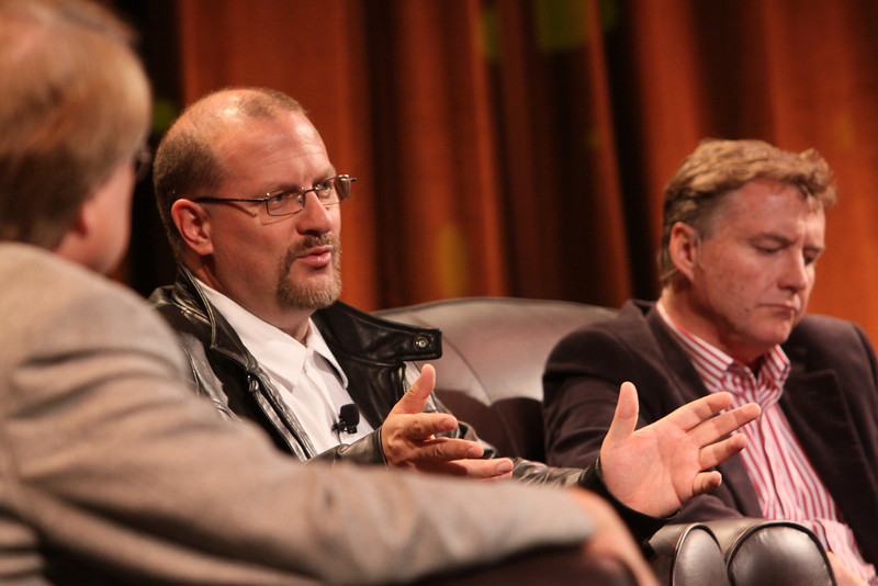 """Australia's Role As Asia Rises"": (L-R) Host Larry Smarr, Director, Calit2 (the ""FiRe Lab""), UCSD; Simon Hackett, CEO, Internode; and Chris Hancock, CEO, AARNet"