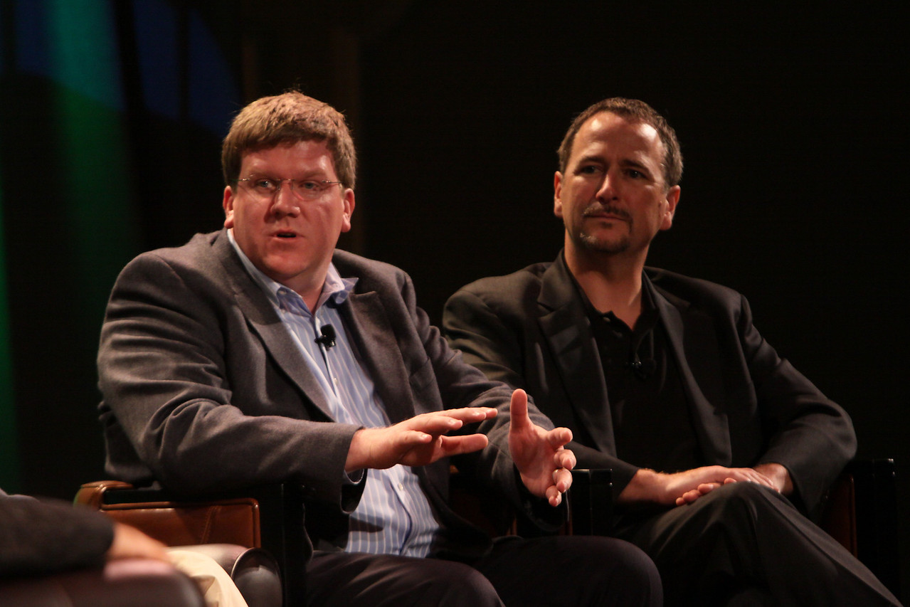 """FiRe CTO Design Challenge"": Ty Carlson (L), Architect, SiArch Group, Microsoft; and Joe Burton, CTO, Cisco"