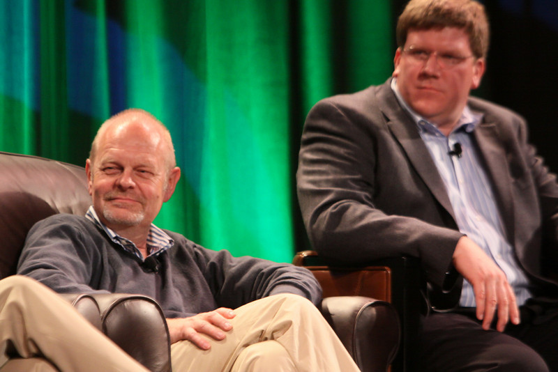 """""""FiRe CTO Design Challenge: Water Beyond Tomorrow"""": Per-Kristian (Kris) Halvorsen (L), SVP and Chief Innovation Officer, Intuit; and Ty Carlson, Architect, SiArch Group, Microsoft"""