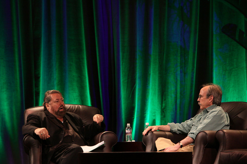 """""""In Search of Economic Redemption"""": Bill Janeway (R), Senior Advisor, Warburg Pincus; with host Mark Anderson, SNS CEO and FiRe Chair"""
