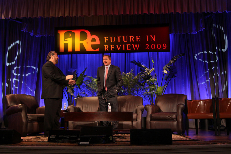 Keynote: Host Mark Anderson (L), SNS CEO and FiRe Chair; in a conversation with Mark Hurd, CEO, Hewlett-Packard