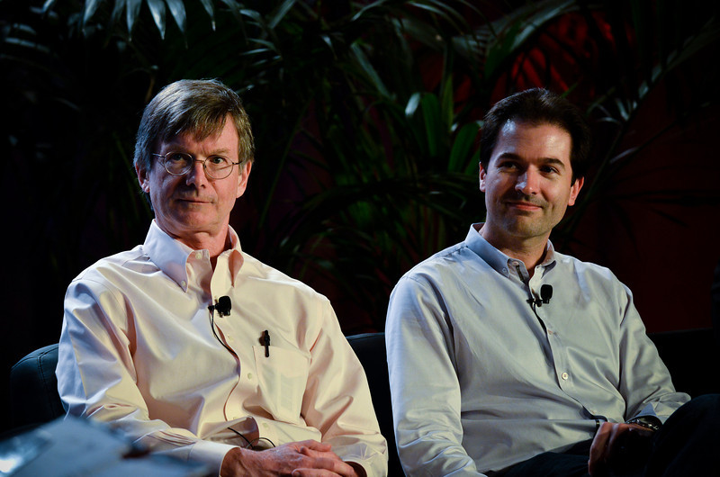 """Privacy Protection: The Consumer Side of Security"": Tom Malloy (L) and Sim Simeonov.  At the Montage Resort in Laguna Beach, CA, 200 thought leaders - high technology engineers and executives, entrepreneurs, scientists, and media professionals - gathered for 3-1/2 days to participate in the Future in Review (FiRe) 2011 conference presented by the Strategic News Service and led by SNS founder and technology visionary Mark Anderson. Interviews, panel discussions, and informal conversations ranged from cybersecurity to CO2 and climate change, China and IP, healthcare policy, medical diagnostics, and global economics."
