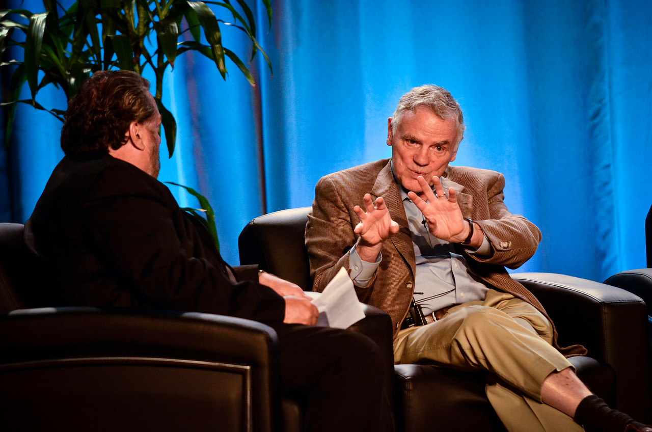 "Leroy Hood (R), President, Institute for Systems Biology, and Mark Anderson, in the Centerpriece Conversation ""How Systems Medicine and Emerging Technologies Will Transform Healthcare.""  At the Montage Resort in Laguna Beach, CA, 200 thought leaders - high technology engineers and executives, entrepreneurs, scientists, and media professionals - gathered for 3-1/2 days to participate in the Future in Review (FiRe) 2011 conference presented by the Strategic News Service and led by SNS founder and technology visionary Mark Anderson. Interviews, panel discussions, and informal conversations ranged from cybersecurity to CO2 and climate change, China and IP, healthcare policy, medical diagnostics, and global economics."