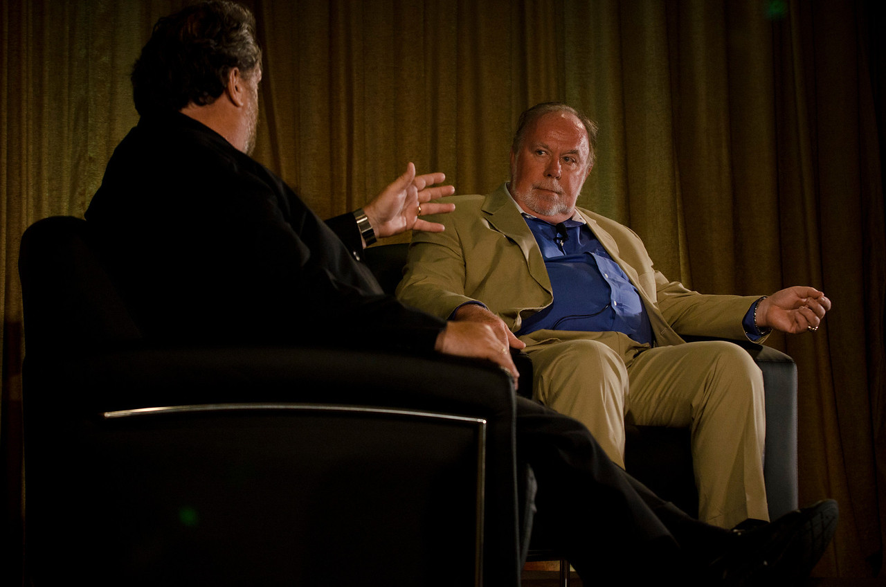 Mark Anderson (L), CEO, Strategic News Service, and Richard Marshall, Director, Global Cyber Security Management, Department of Homeland Security.