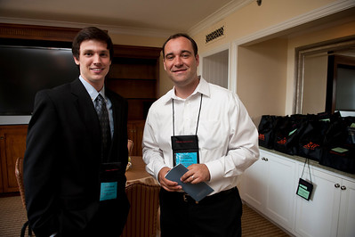 Kyle Roche (L) and Gustav Toppenberg.  At the Montage Resort in Laguna Beach, CA, 200 thought leaders - high technology engineers and executives, entrepreneurs, scientists, and media professionals - gathered for 3-1/2 days to participate in the Future in Review (FiRe) 2011 conference presented by the Strategic News Service and led by SNS founder and technology visionary Mark Anderson. Interviews, panel discussions, and informal conversations ranged from cybersecurity to CO2 and climate change, China and IP, healthcare policy, medical diagnostics, and global economics.