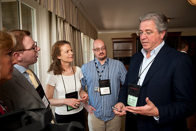 (L-R) Cynthia Figge, Matthew Davies, and Andre' de Fusco.  At the Montage Resort in Laguna Beach, CA, 200 thought leaders - high technology engineers and executives, entrepreneurs, scientists, and media professionals - gathered for 3-1/2 days to participate in the Future in Review (FiRe) 2011 conference presented by the Strategic News Service and led by SNS founder and technology visionary Mark Anderson. Interviews, panel discussions, and informal conversations ranged from cybersecurity to CO2 and climate change, China and IP, healthcare policy, medical diagnostics, and global economics.