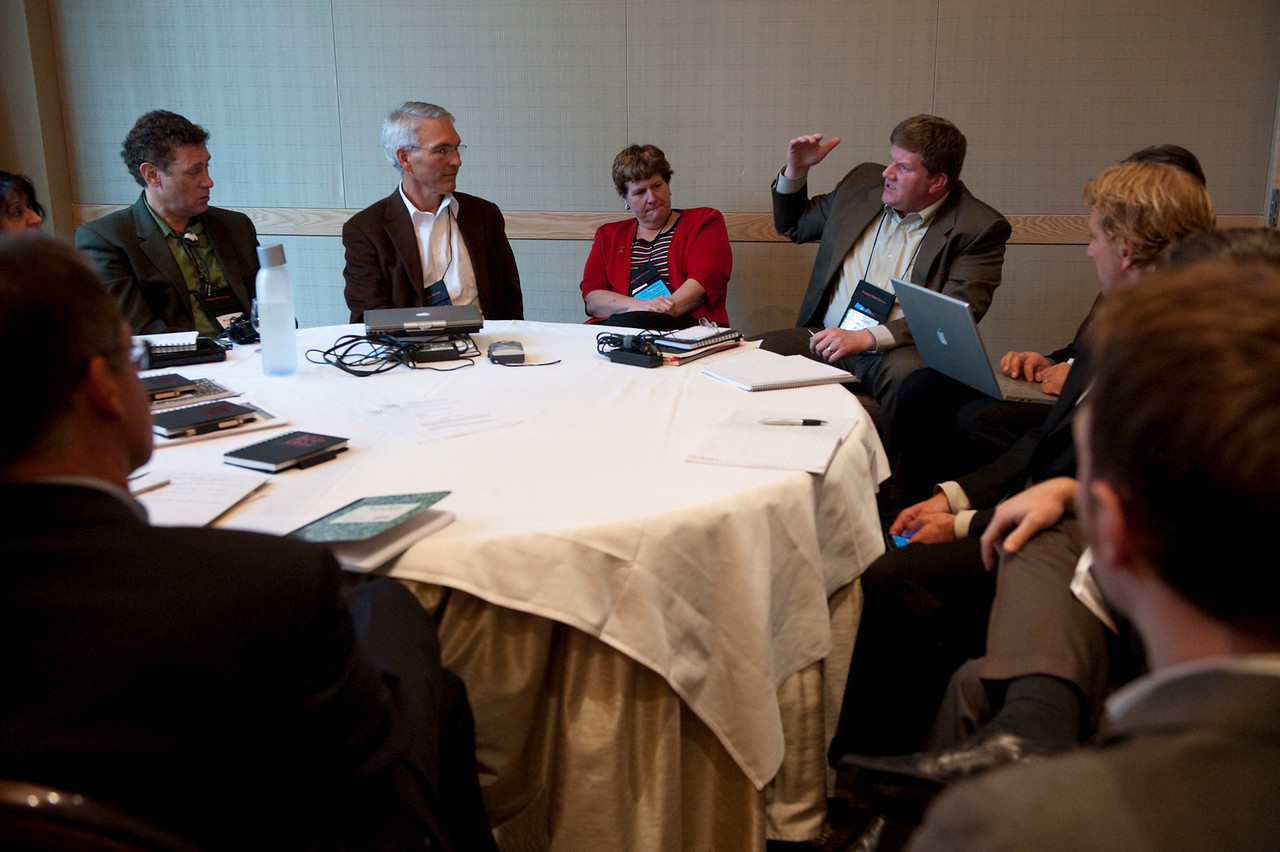 Education breakout group: Ty Carlson, SiArch Group, Microsoft, makes a point
