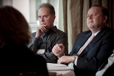 John Petote (L), CEO, CIO Solutions; and Victor Perton, Commissioner to the Americas, State of Victoria, Australia
